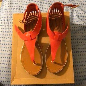 Coral Sandals.